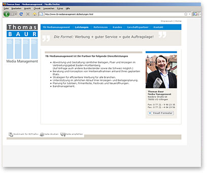 Screenshot www.tb-mediamanagement.de